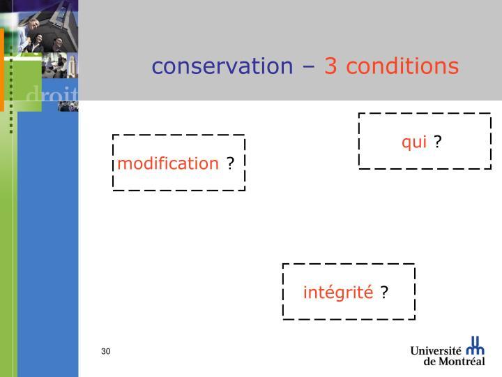 conservation –