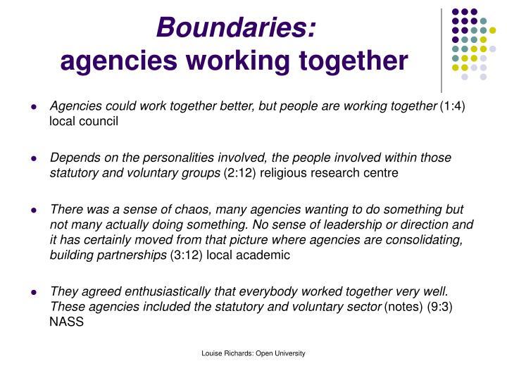 Boundaries: