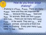 how do you know about zhalong