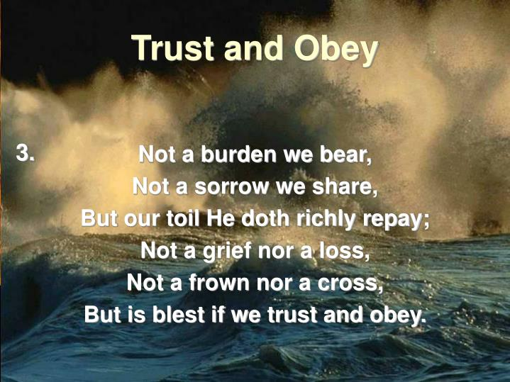 Not a burden we bear,