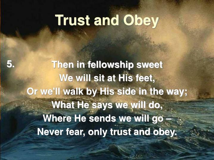 Then in fellowship sweet