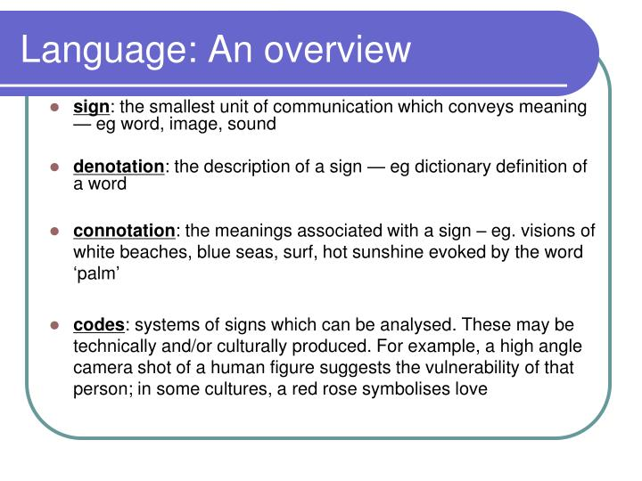 Language an overview