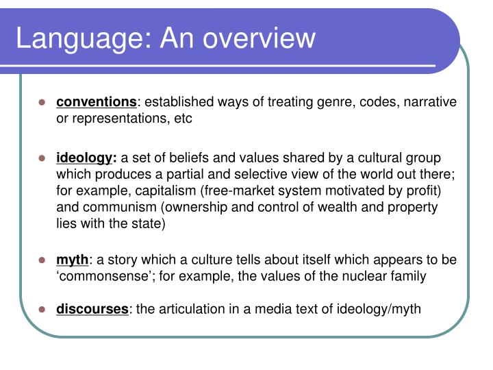 Language: An overview