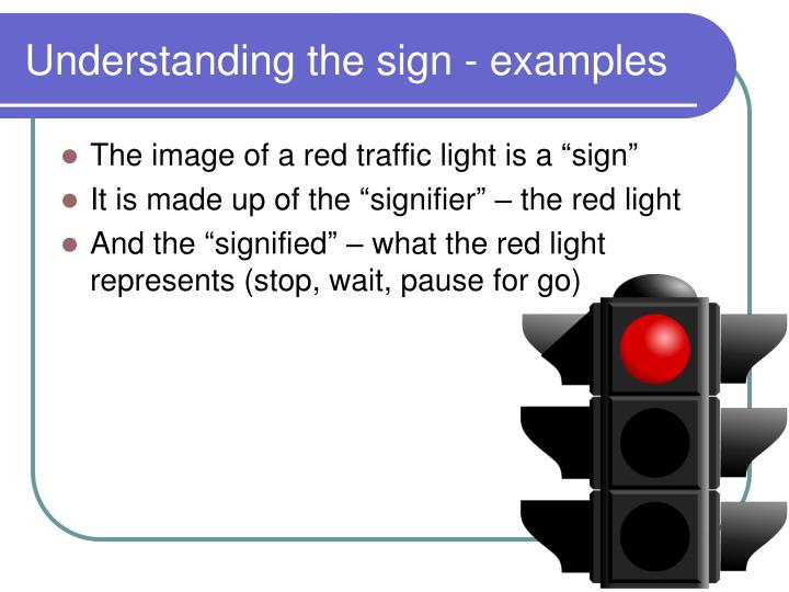 Understanding the sign - examples