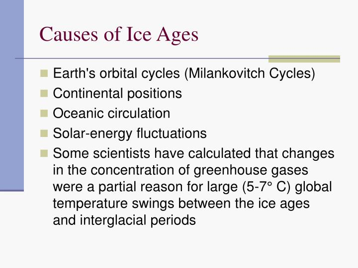 causes of ice ages n.