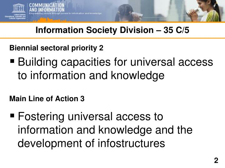Information society division 35 c 5