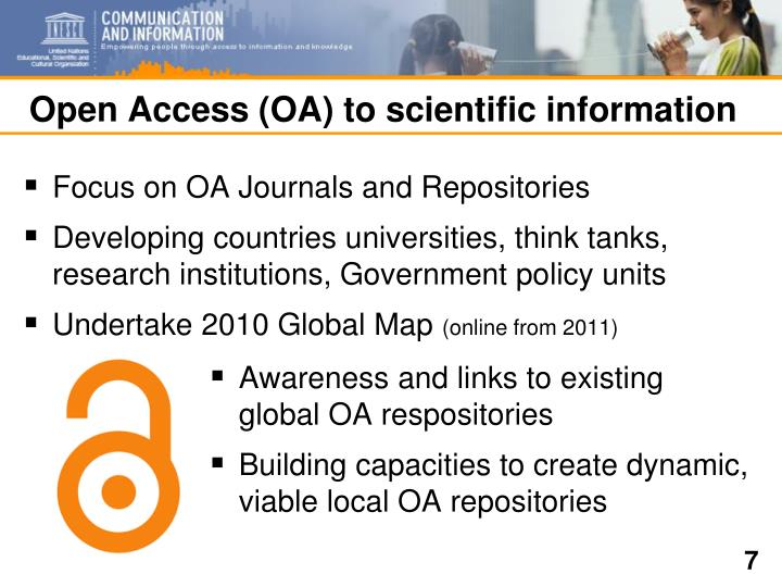 Open Access (OA) to scientific information