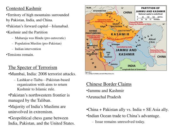 Contested Kashmir