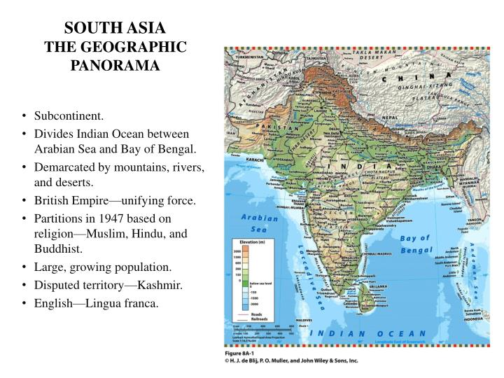South asia the geographic panorama