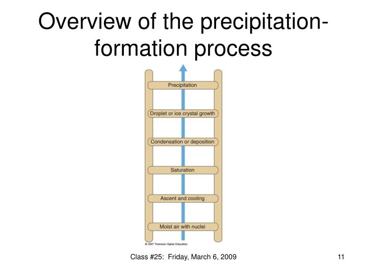 Overview of the precipitation-formation process