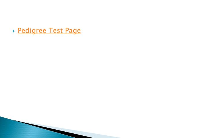 Pedigree Test Page