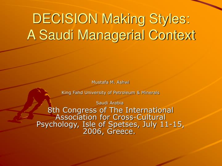 Decision making styles a saudi managerial context