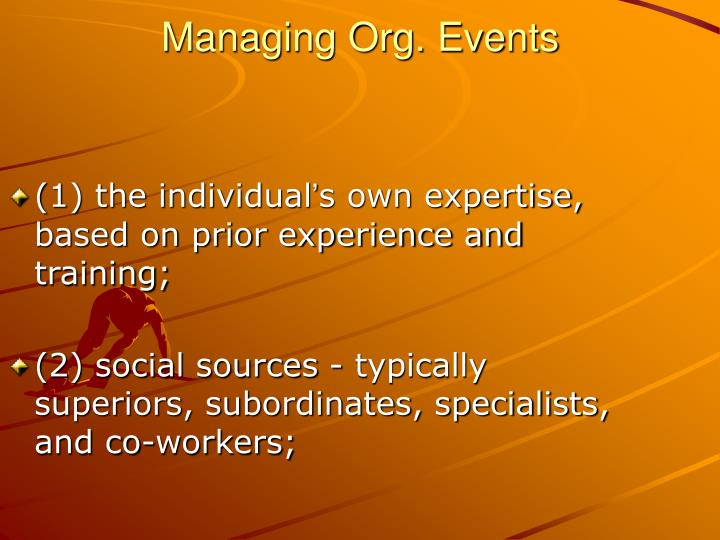 Managing org events