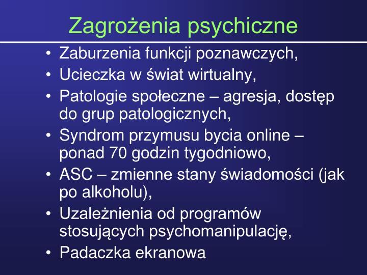 Zagrożenia psychiczne
