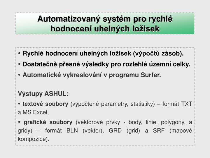 Automatizovaný systém pro rychlé