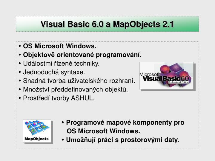 Visual Basic 6.0 a MapObjects 2.1