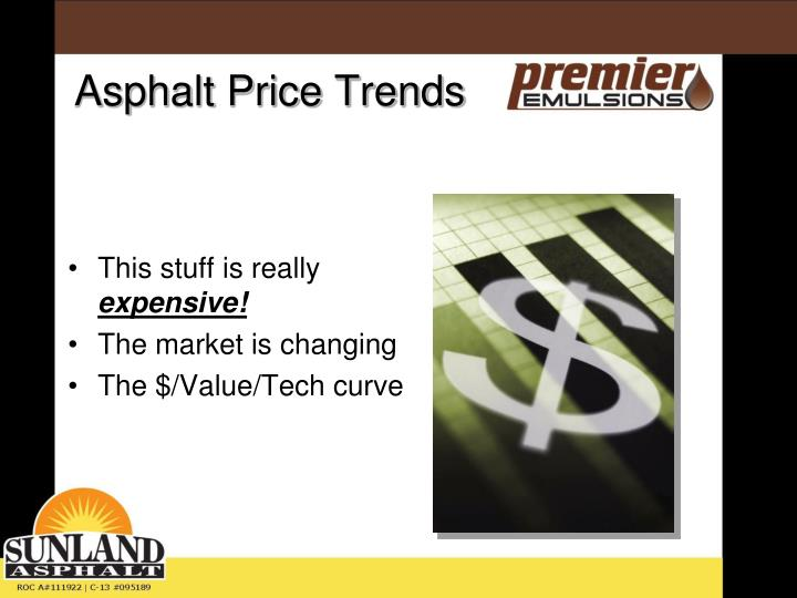 Asphalt price trends1
