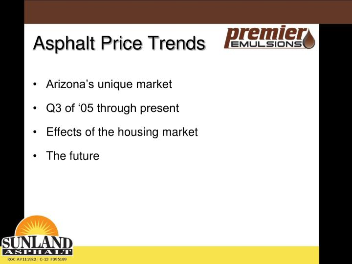 Asphalt price trends2