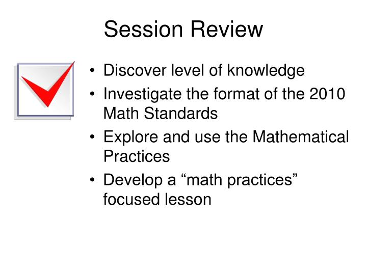 Session Review