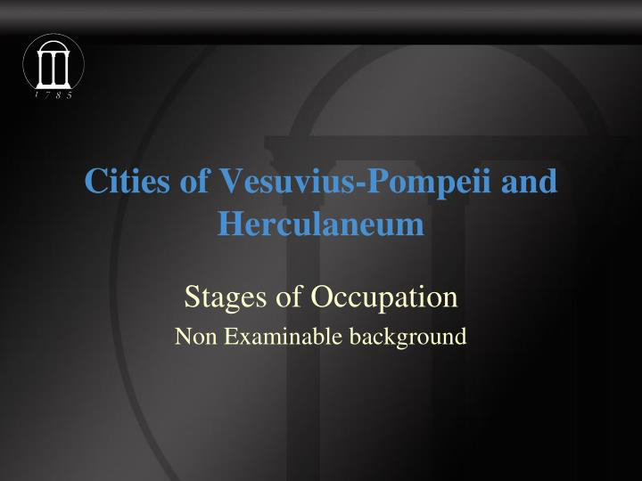 cities of vesuvius pompeii and herculaneum n.