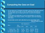 computing the cess on coal