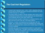 the coal ash regulation