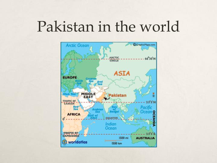 Pakistan in the world