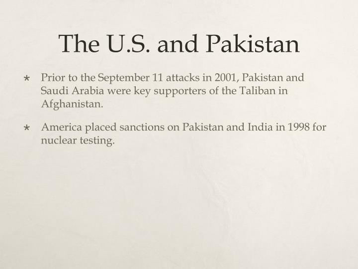 The U.S. and Pakistan