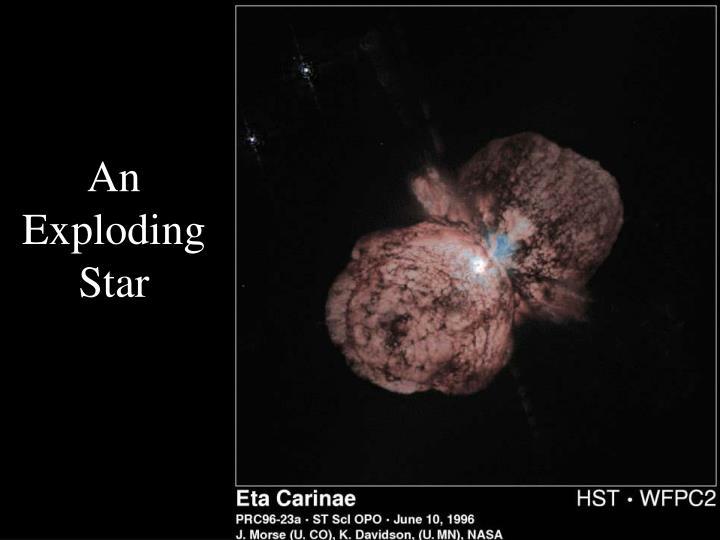An Exploding Star