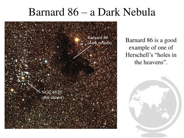 Barnard 86 a dark nebula