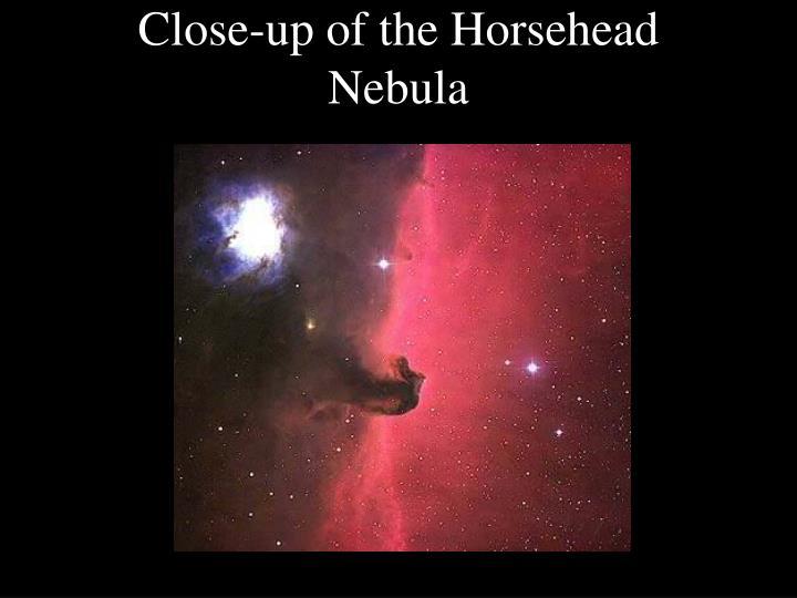 Close-up of the Horsehead Nebula