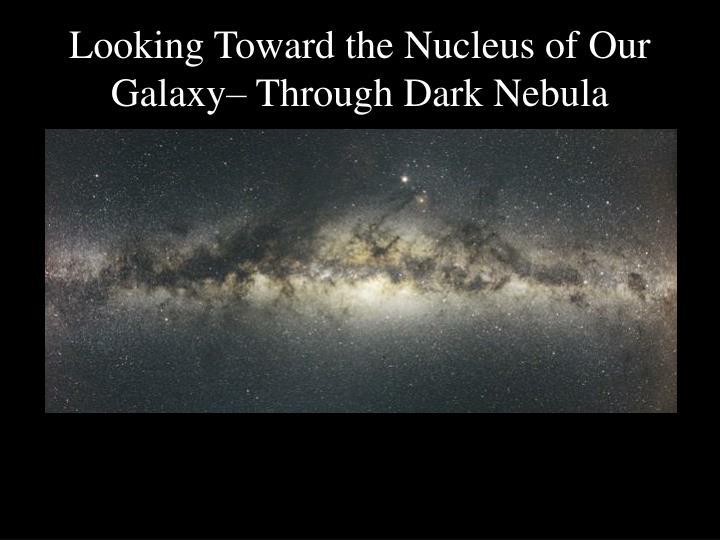 Looking Toward the Nucleus of Our Galaxy– Through Dark Nebula