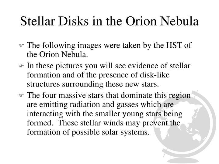 Stellar Disks in the Orion Nebula