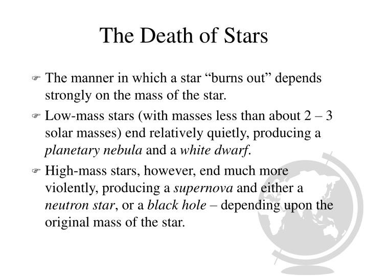 The Death of Stars