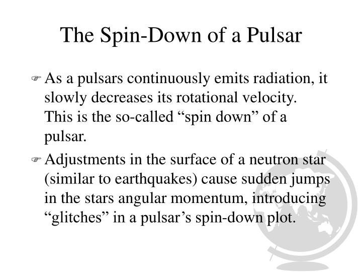 The Spin-Down of a Pulsar