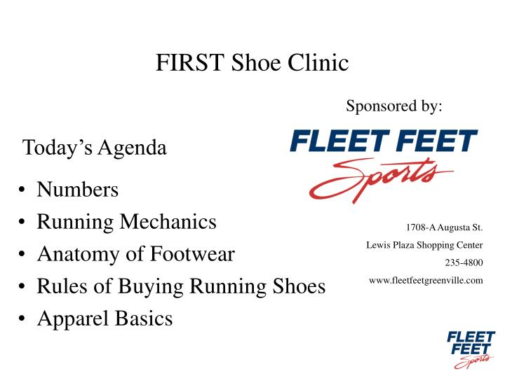 First shoe clinic