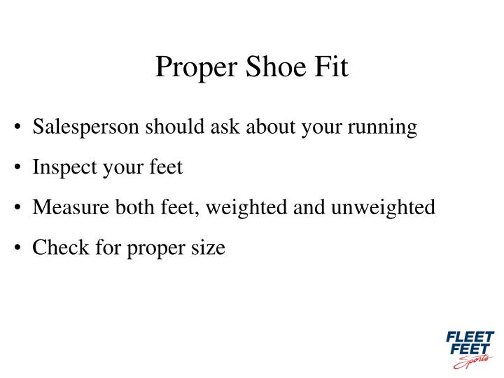 Proper Shoe Fit