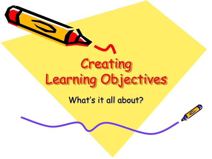 creating learning objectives n.