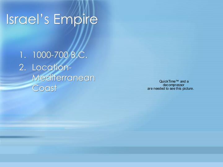 Israel s empire