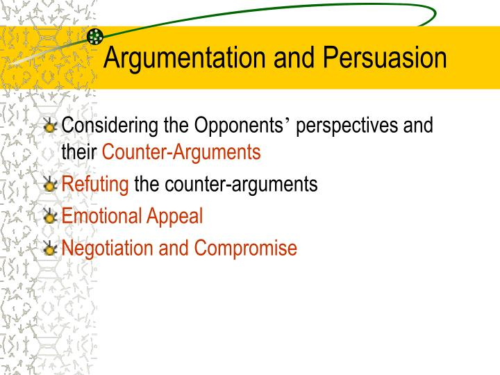 Argumentation and Persuasion