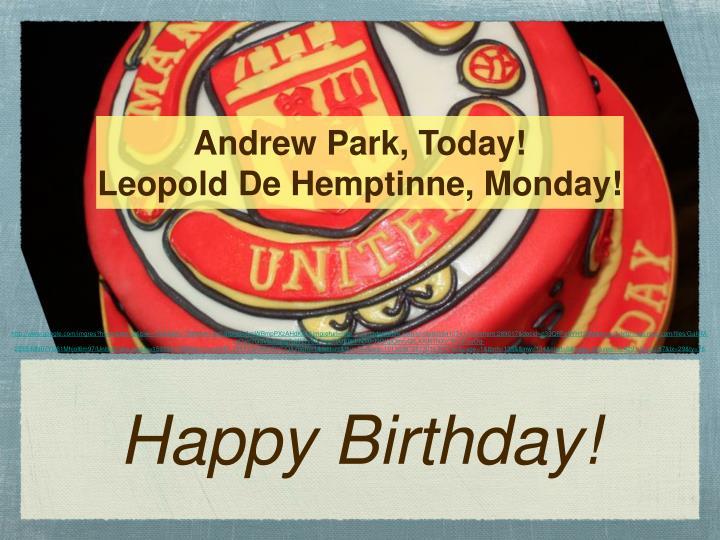 Andrew Park, Today!