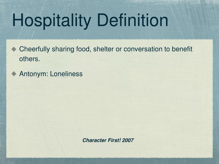 Hospitality Definition