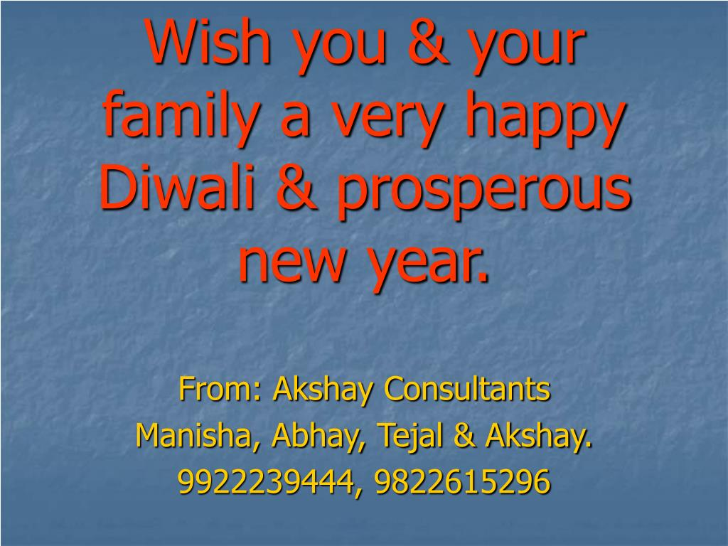 wish you your family a very happy diwali prosperous new year n