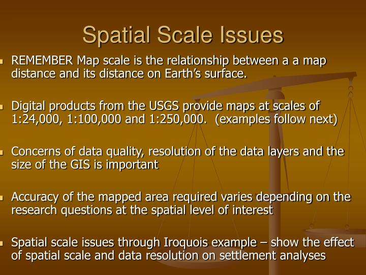 Spatial Scale Issues