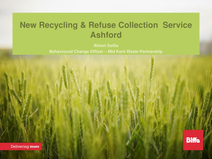 new recycling refuse collection service ashford n.