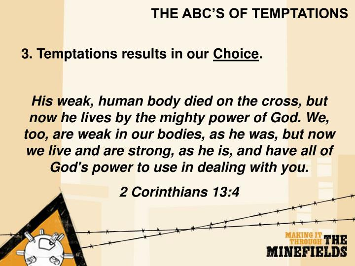 THE ABC'S OF TEMPTATIONS