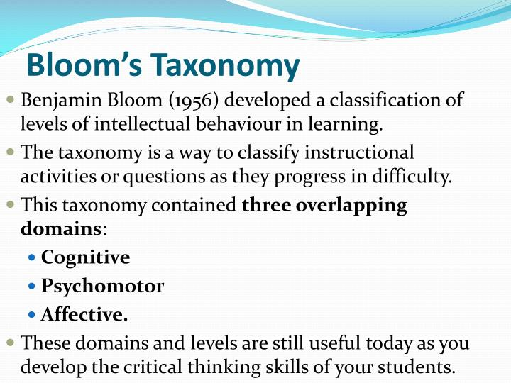 Ppt Taxonomies Of Learning And Learning Objectives Powerpoint