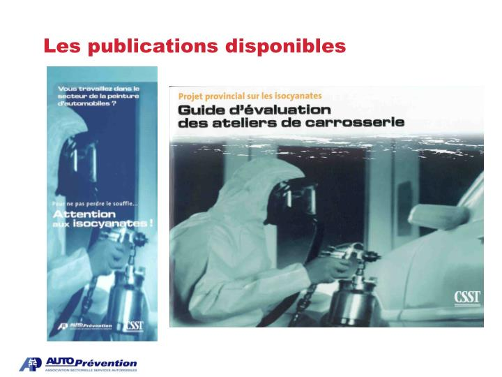 Les publications disponibles