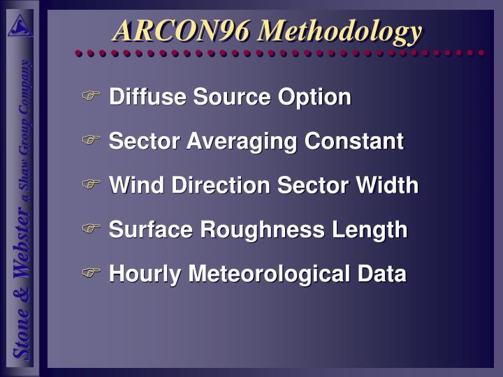 ARCON96 Methodology