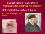 suggestions for counselors psikolojik dan manlar i in neriler